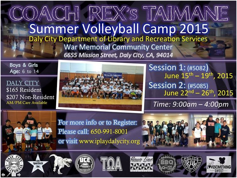 Summer Volleyball Camp 2015
